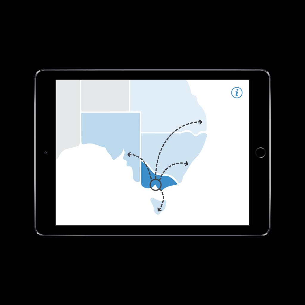 iPad map